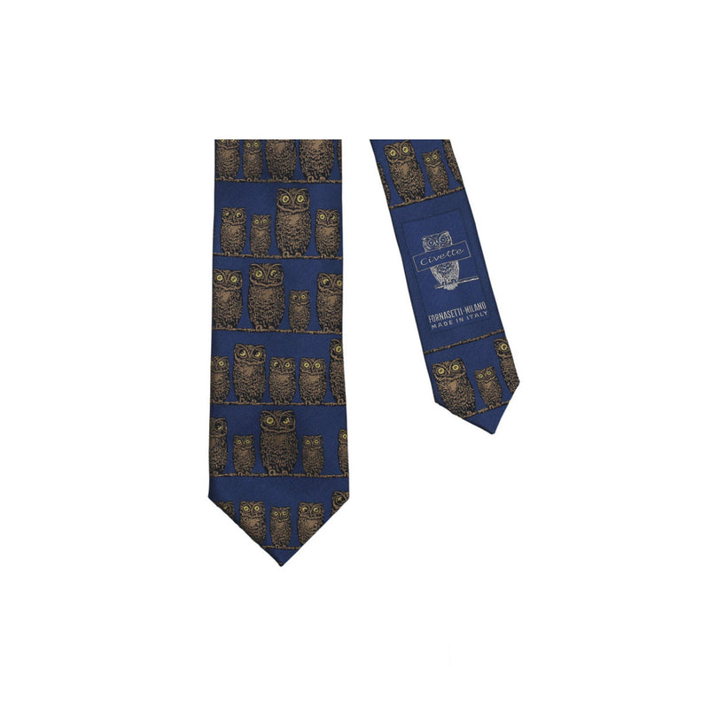 Tie Owls color/blue - Fornasetti