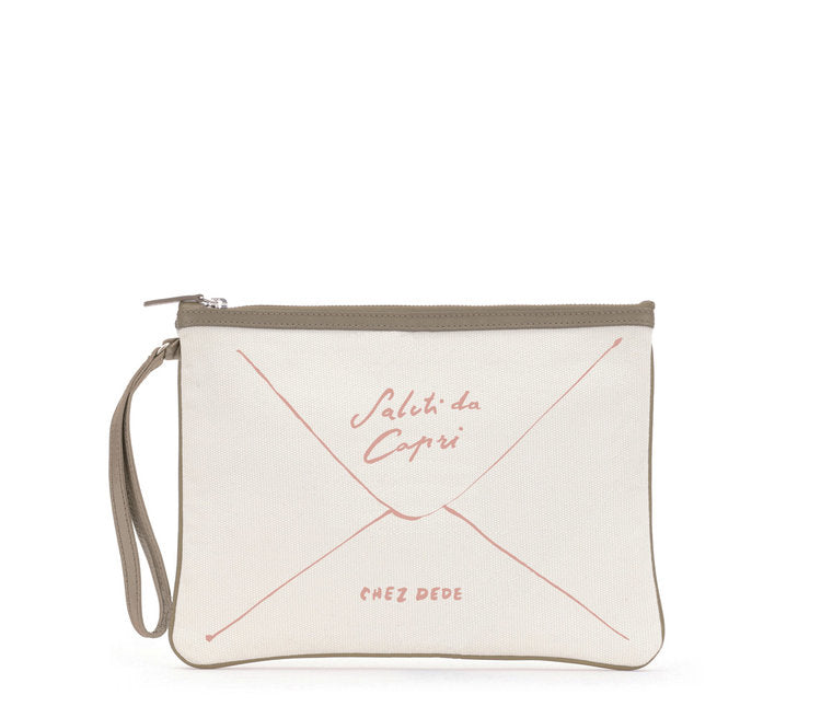 Clutch Greetings from Capri Pink - Chez Dede