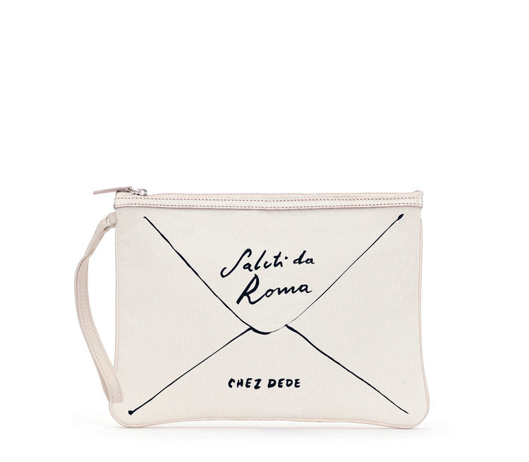 Clutch Greetings from Roma White - Chez Dede
