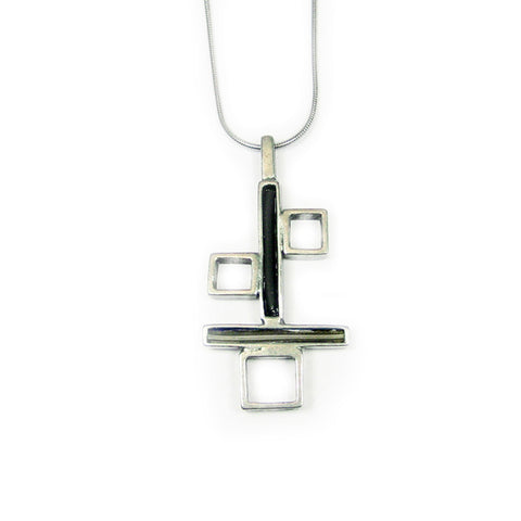 Structure Pendant Necklace 112DC