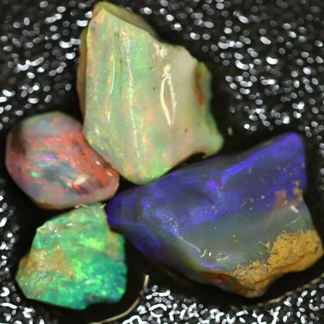 Australian Solid Opal Rough Lightning Ridge Parcel 22 cts
