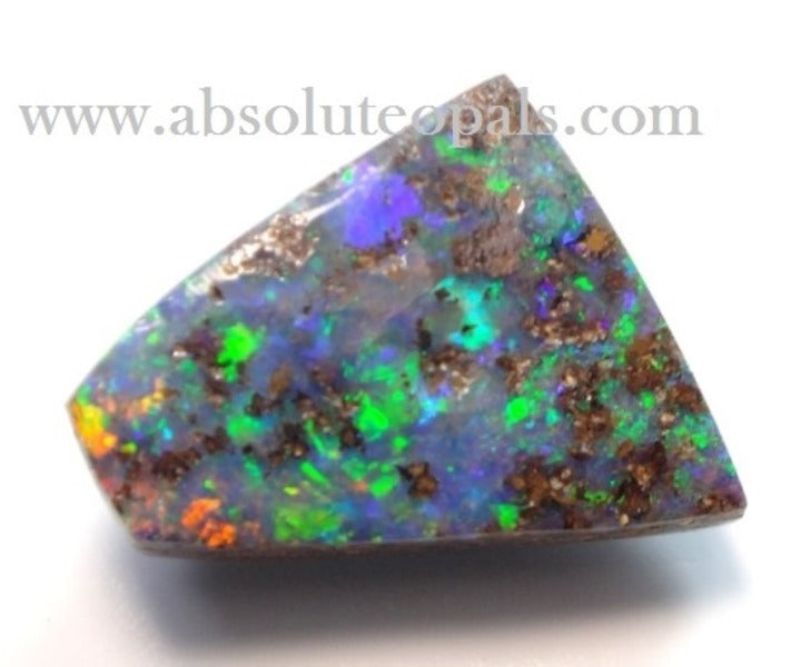 AUSTRALIAN BOULDER GREEN OPAL SOLID STONE NATURAL GEM CUT 2.65 cts
