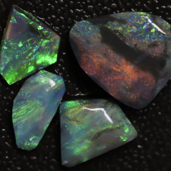 Australian Black Opal Rough, Lightning Ridge Parcel Rubs