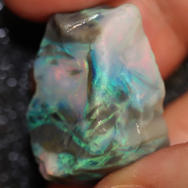 41.10 cts Single Opal Rough for Carving 27.0x17.2x15.5mm