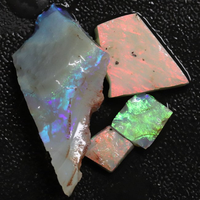 Australian Solid Semi Black Opal Rough Parcel, Lightning Ridge Gem Stones