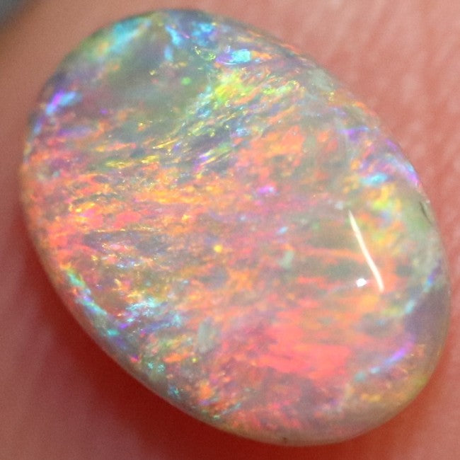 1.08 cts Semi Black Crystal Opal Solid Lightning Ridge Cabochon Loose Stone