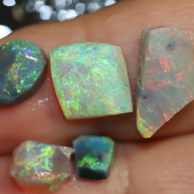10.05 cts Australian Solid Semi Black Opal Rough Nobby Lightning Ridge Parcel