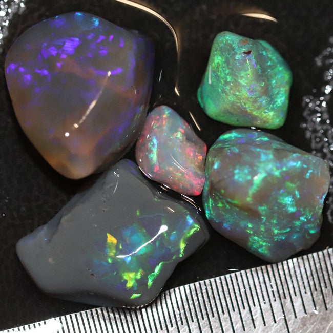 Australian Solid Semi-Black Opal Rough Nobby Lightning Ridge Parcel 26.4 cts