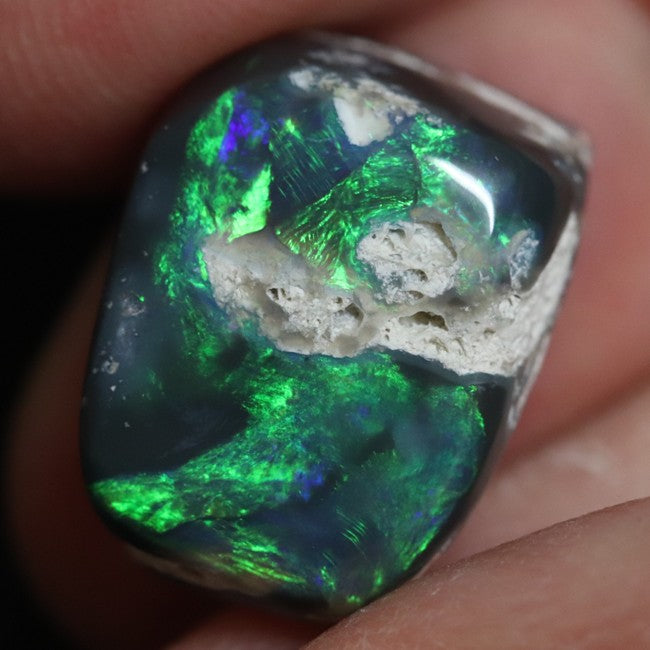 10.06 cts Australian Black Opal Rough Lightning Ridge Polished Specimen