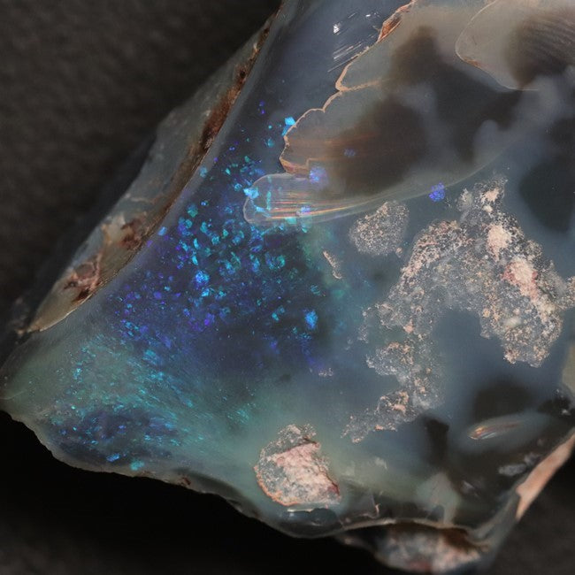 131.25 cts Australian Black Opal Rough, Lightning Ridge, Polished Specimen
