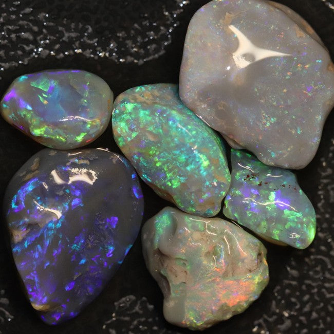 Australian Solid Semi Black Opal Rough, Lightning Ridge Parcel