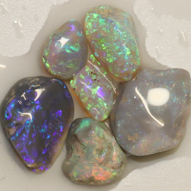 26.85 cts Australian Solid Black Opal Rough, Lightning Ridge Parcel