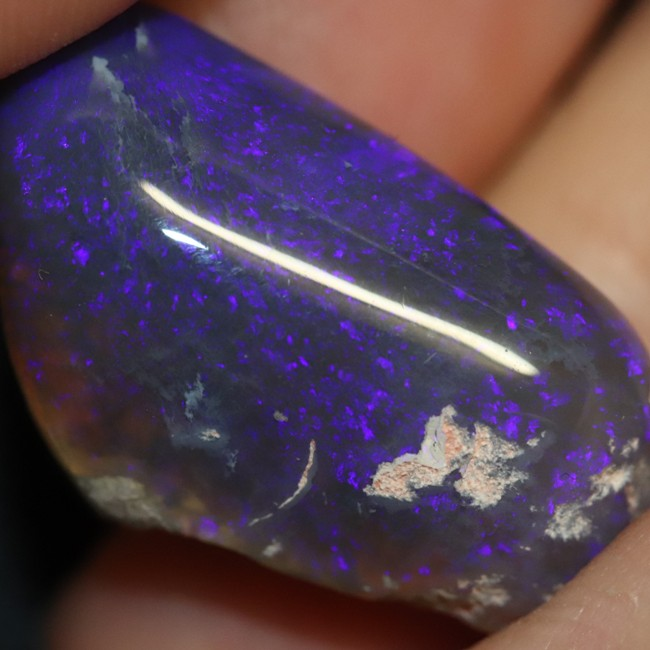 24.15 cts Australian Black Opal Rough, Lightning Ridge Polished Specimen