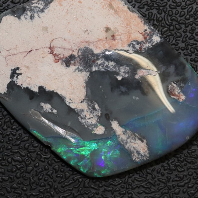 18.50 cts Australian Black Opal Rough, Lightning Ridge Polished Specimen