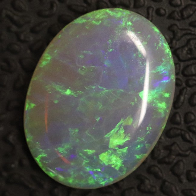 1.38 cts Australian Lightning Ridge, Semi Black Crystal Solid Opal, Cabochon Loose Stone