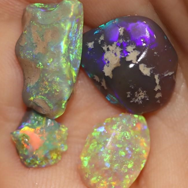 13.15 cts Australian Solid Semi Black Opal Rough Nobby Lightning Ridge Parcel
