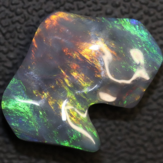 Black Opal Lightning Ridge, Australian Solid Carving, Loose Gem Stone, Red Green Blue