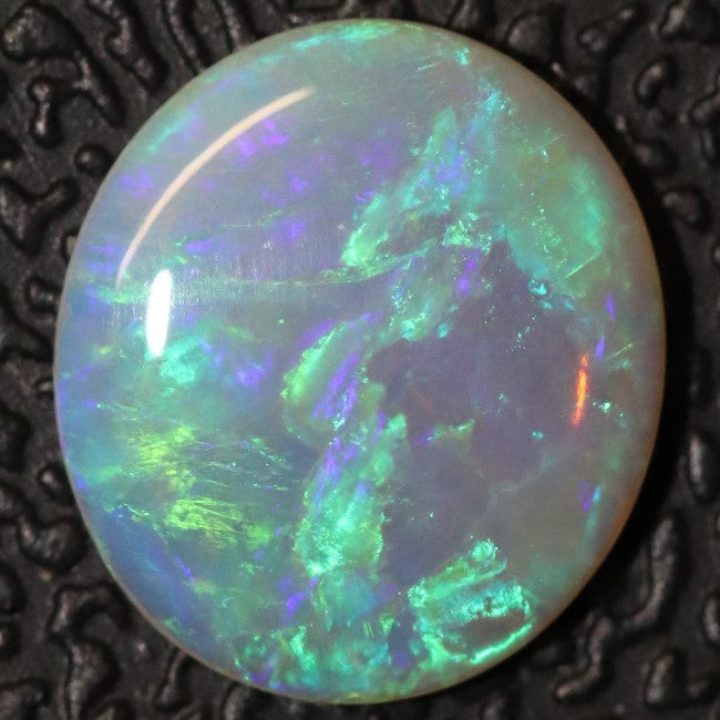 Australian Semi Black Crystal Opal Solid Lightning Ridge Cabochon Loose Stone