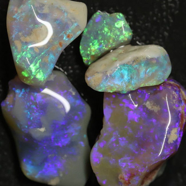 36.0 cts Australian Solid Semi Black Opal Rough Parcel, Lightning Ridge Stones