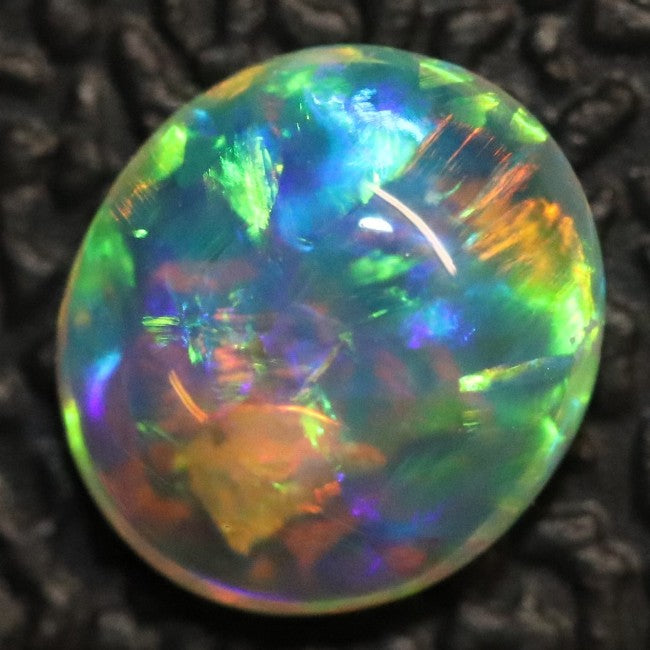 0.50 cts Crystal Opal Cabochon, Australian Solid Cut Loose Stone,  Lightning Ridge