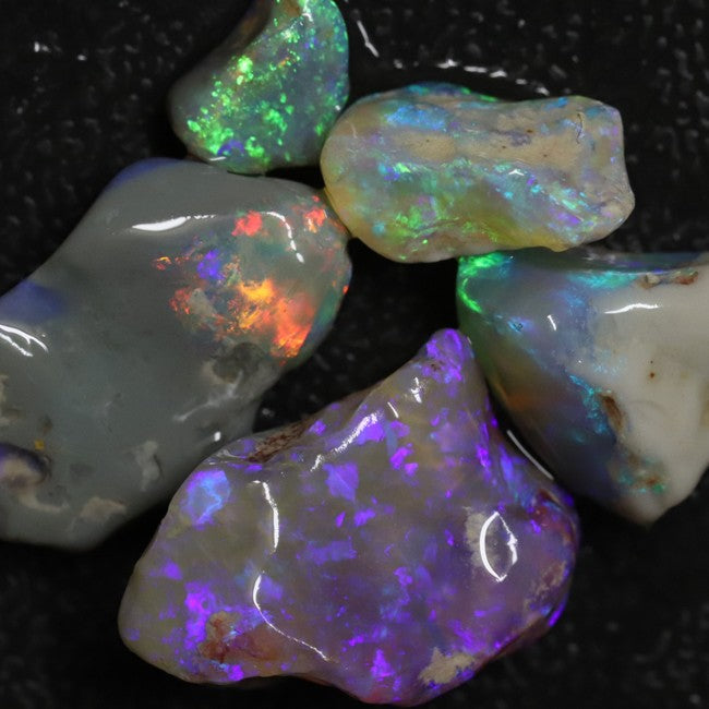 Australian Solid Semi Black Opal Rough Parcel, Lightning Ridge Stones