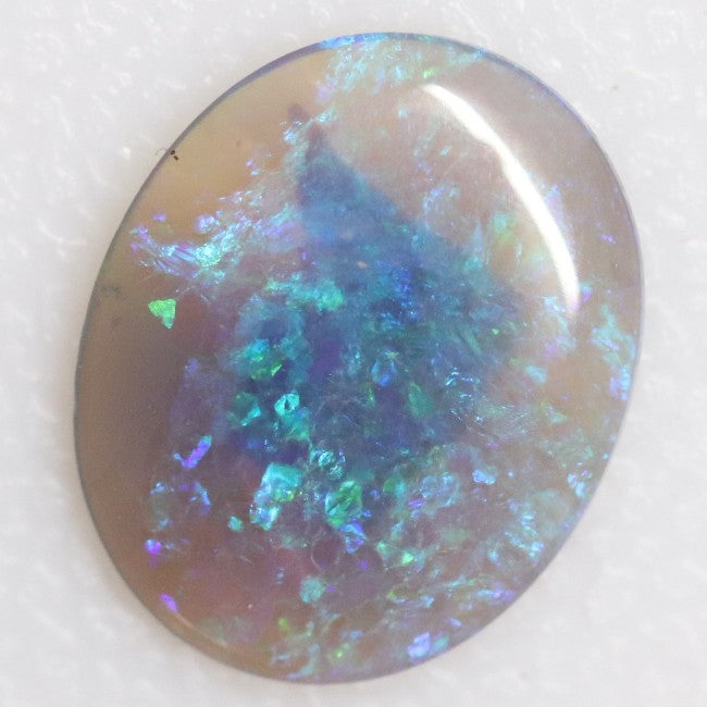 1.37 cts Australian Lightning Ridge, Semi Black Crystal Solid Opal, Cabochon Loose Stone