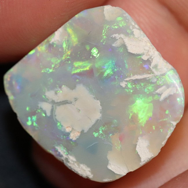 7.70 cts Australian Semi Black Opal Rough, Lightning Ridge, Polished Specimen