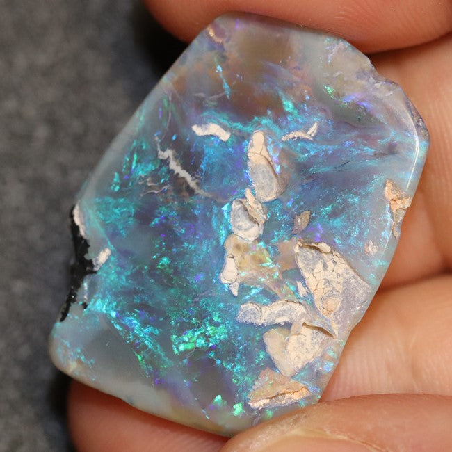 21.8 cts Australian Opal Rough Lightning Ridge Polished Specimen