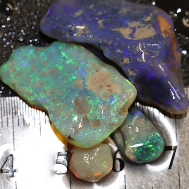 37.65 cts Australian Solid Semi Black Opal Rough Nobby Lightning Ridge Parcel