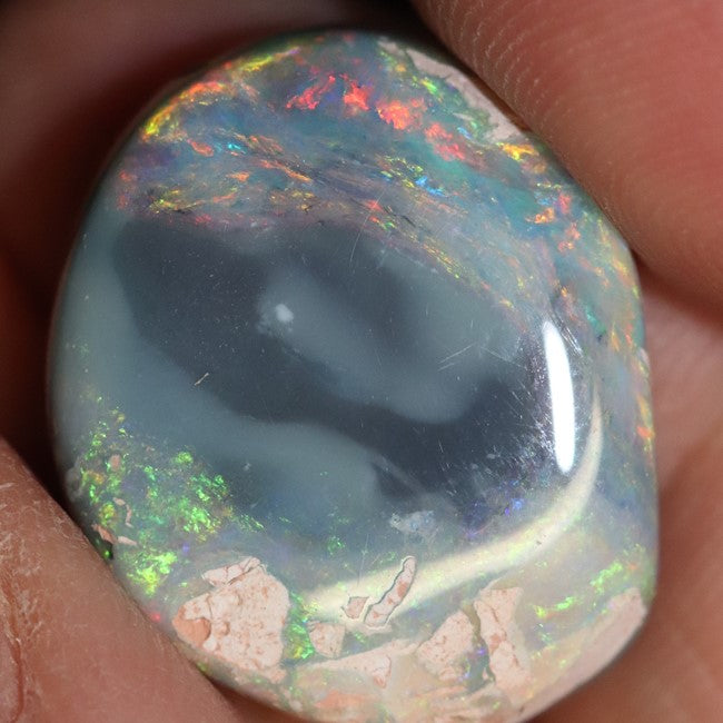 18.90 cts Australian Semi-Black Opal Rough, Lightning Ridge Polished Specimen