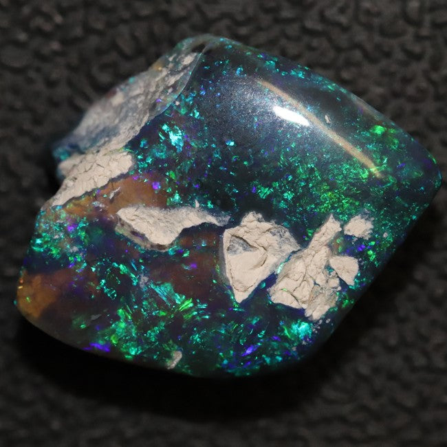 9.05 cts Australian Black Opal Rough, Lightning Ridge Polished Specimen