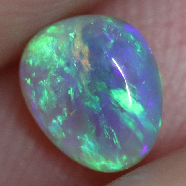 0.58 cts Australian Lightning Ridge, Semi Black Crystal Solid Opal, Cabochon Loose Stone