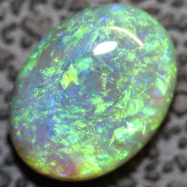 1.46 cts Semi Black Crystal Opal Solid Lightning Ridge Cabochon Loose Stone