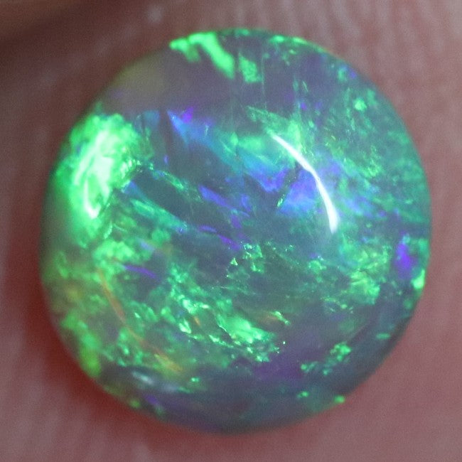 0.81 cts Australian Lightning Ridge, Semi Black Crystal Solid Opal, Cabochon Loose Stone