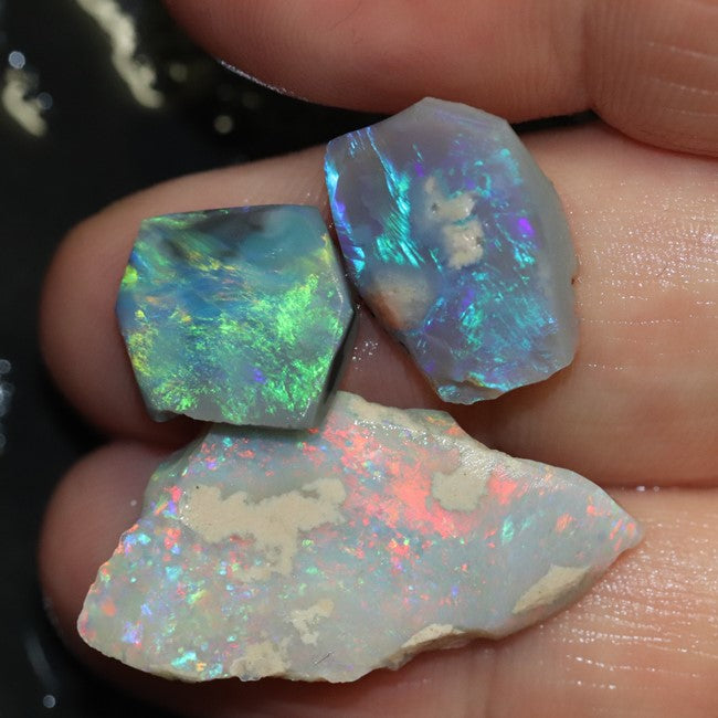 29.05 cts Australian Black Opal Rough Rubs Lightning Ridge Parcel
