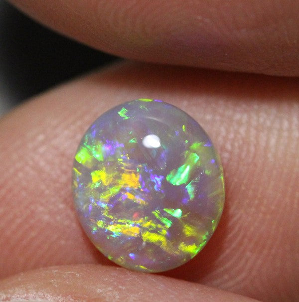 CRYSTAL OPAL LIGHTNING RIDGE SOLID CABOCHON STONE 1.35 cts+ vid