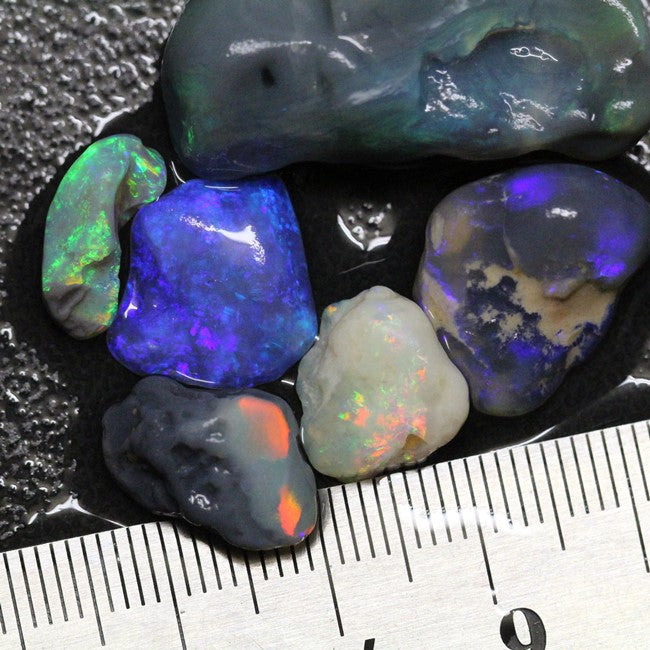 Australian Solid Black Opal Rough Nobby Lightning Ridge Parcel 69.75 cts