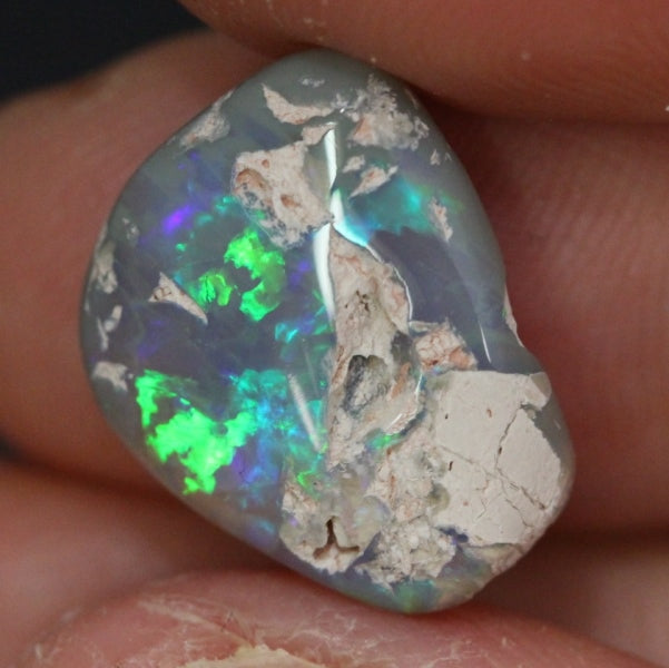 Australian Solid Opal Rough Lightning Ridge Polished Specimen 5.90ct