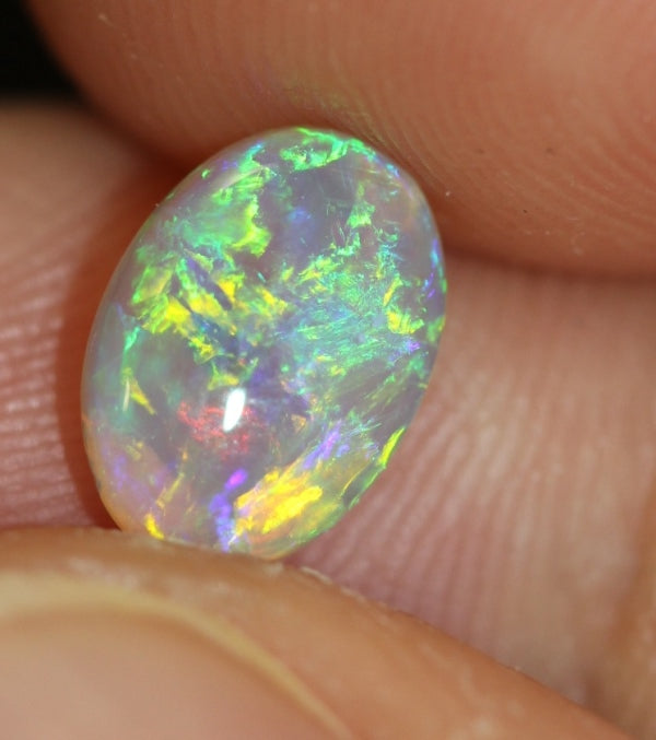Australian Opal Lightning Ridge ,Crystal Cabochon Solid Stone 1.26cts
