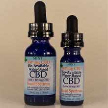 Load image into Gallery viewer, Water-based (Nano) Broad Spectrum CBD Tinctures (THC-free)