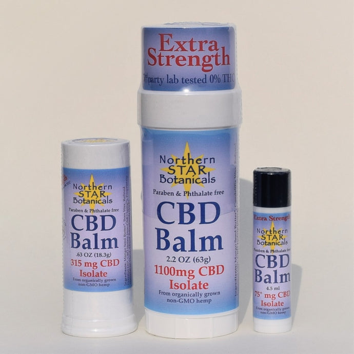 Premium Extra Strength CBD Balm with therapeutic essential oils, from Northern Star Botanicals