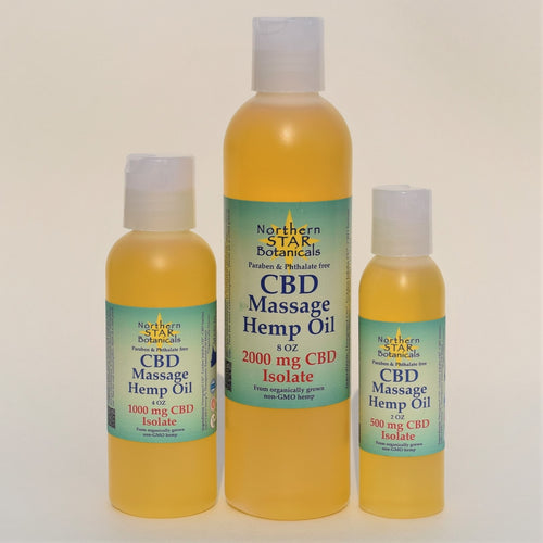 Northern Star Botanicals CBD and Hemp Massage Oil
