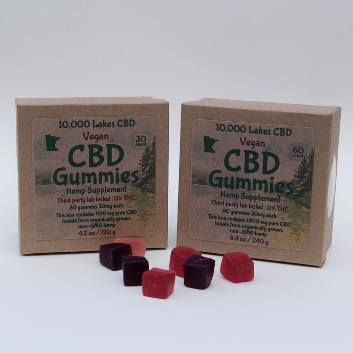 10,000 Lakes CBD Gummies - Premium Hemp Supplements, made with pride in Minnesota