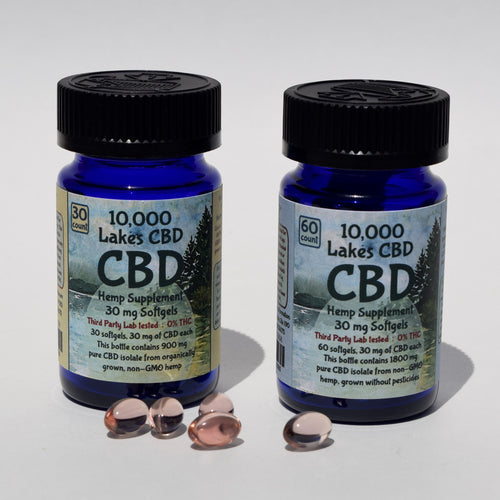 10,000 Lakes CBD Softgels - Premium Hemp Supplement, made in Minnesota