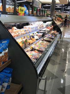 retail food display with LED lighting