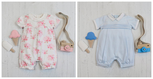 Summer baby rompers from Emile et Rose