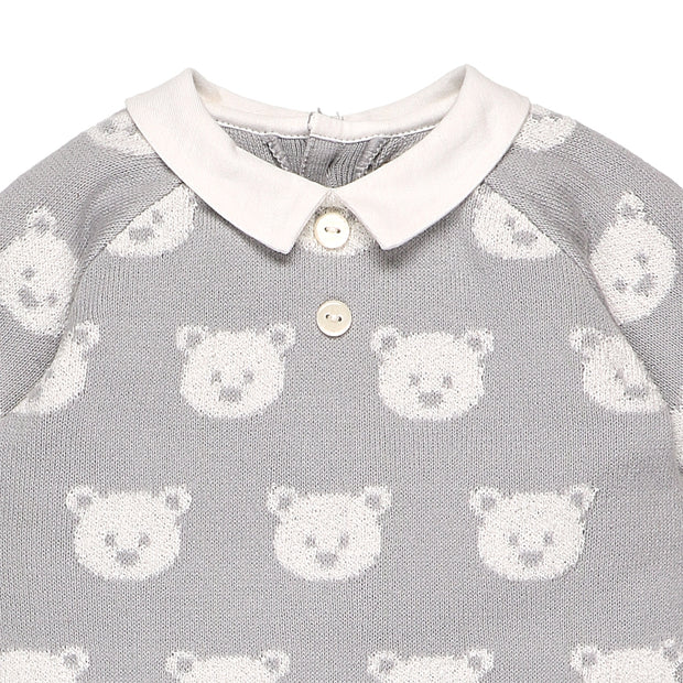 Rico Grey Teddy Bear All in One & Hat Set
