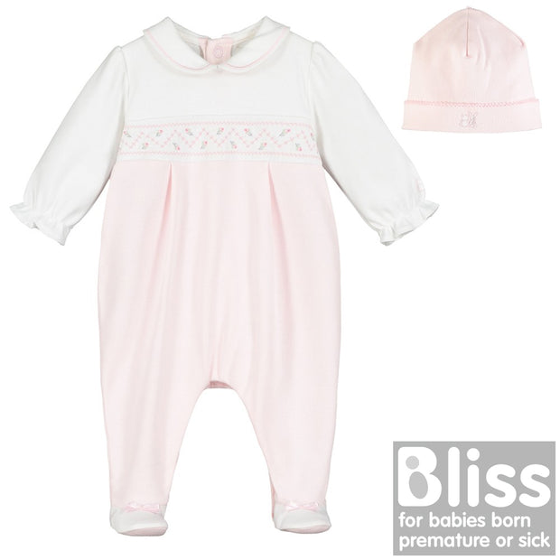Tara Girls Babygrow & Hat Set