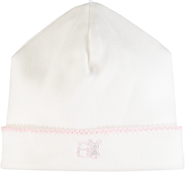 Thalia White Girls Babygrow & Hat Set