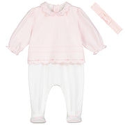 Teaghan Pretty Babygrow & Hairband